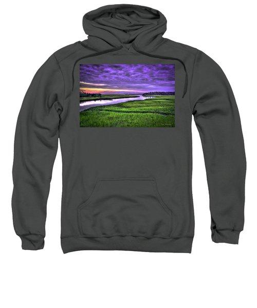 Sunset Over Turners Creek Savannah Tybee Island Ga Sweatshirt