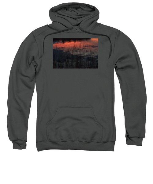 Sunset Reeds Sweatshirt by Gary Eason
