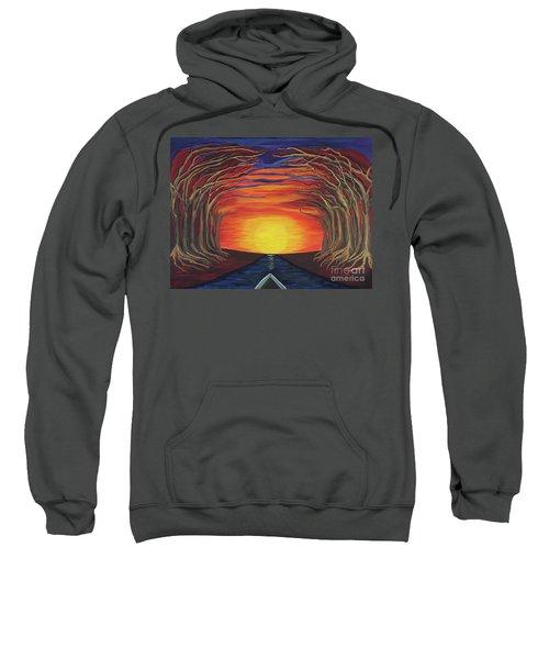 Treetop Sunset River Sail Sweatshirt