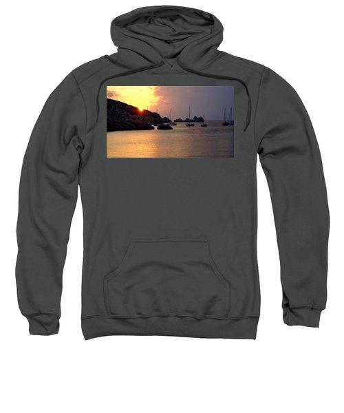 Sunset Sailing Boats Sweatshirt