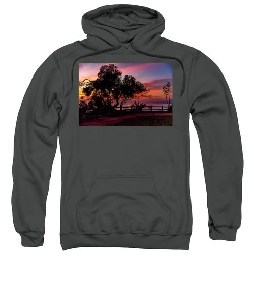 Sunset Silhouettes From Palisades Park Sweatshirt