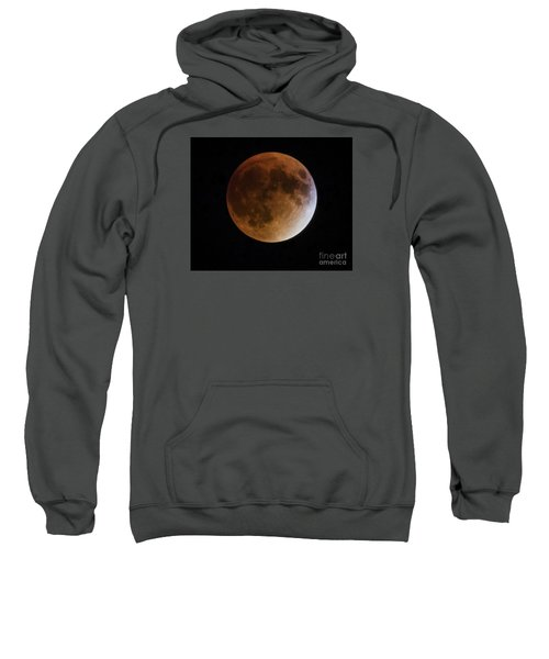 Sweatshirt featuring the photograph Super Blood Moon Lunar Eclipses by Ricky L Jones