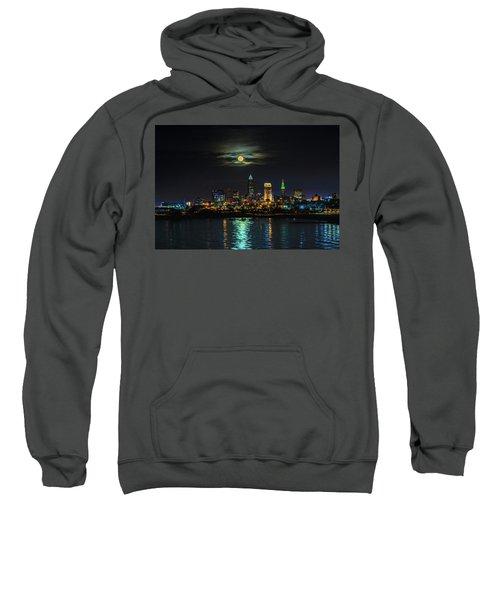Super Full Moon Over Cleveland Sweatshirt