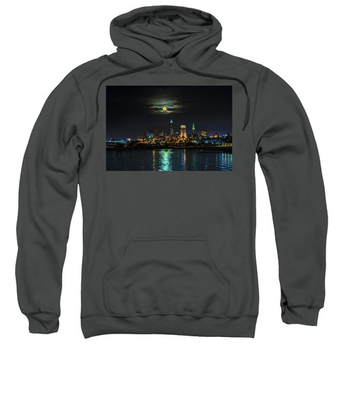 Super Full Moon Over Cleveland Sweatshirt