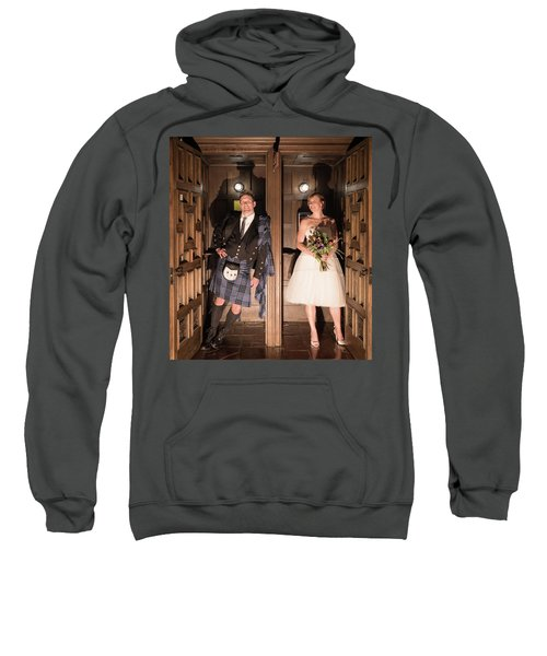 Super Hero Wedding Pose Sweatshirt