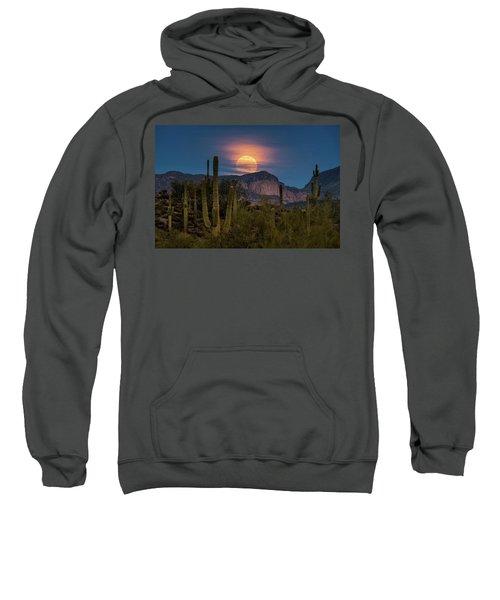 Super Moon 2018 - Wolf Moon  Sweatshirt