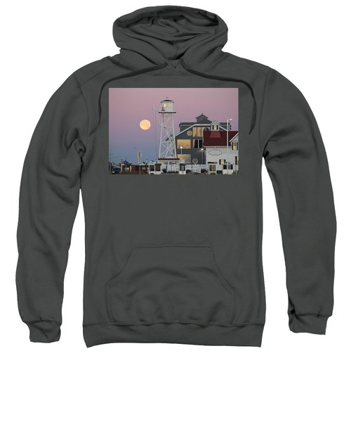 Super Wolf Moon At The Watch Tower Sweatshirt