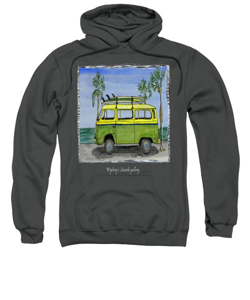 Surf Art Vw Bus And Long Boards  Sweatshirt