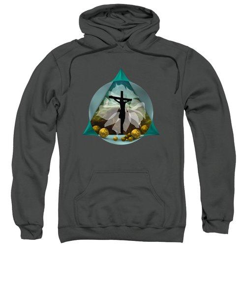 Surreal Crucifixion Sweatshirt