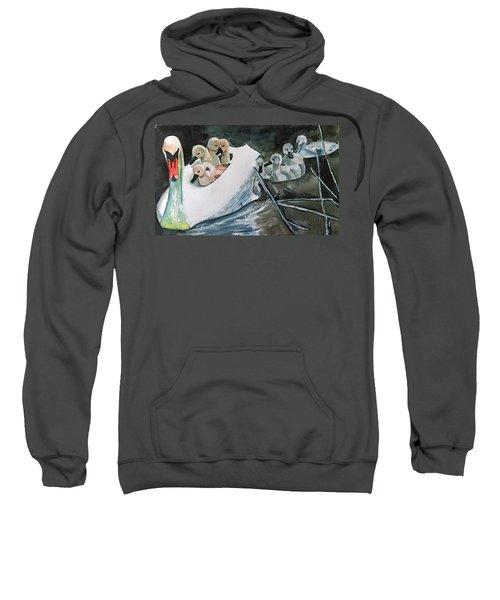 Swan And Cygnets Sweatshirt