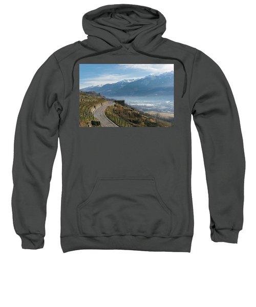 Swerving Road In Valtellina, Italy Sweatshirt