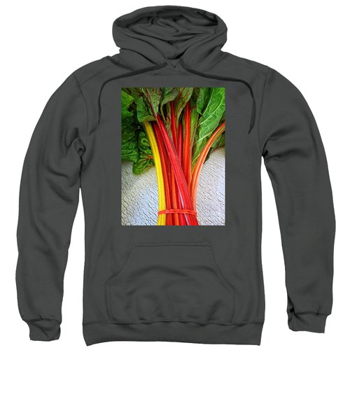Sweatshirt featuring the photograph Swiss Chard by Dee Flouton