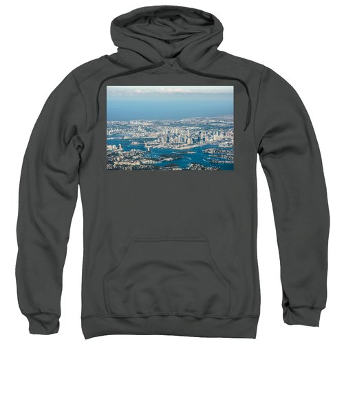 Sydney From The Air Sweatshirt by Parker Cunningham