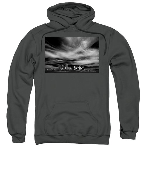 Sydney Skyline With Dramatic Sky Sweatshirt