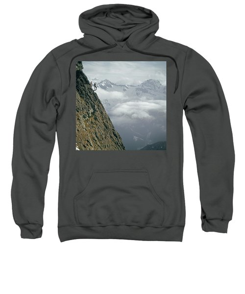T-404101 Climbers On Sleese Mountain Sweatshirt