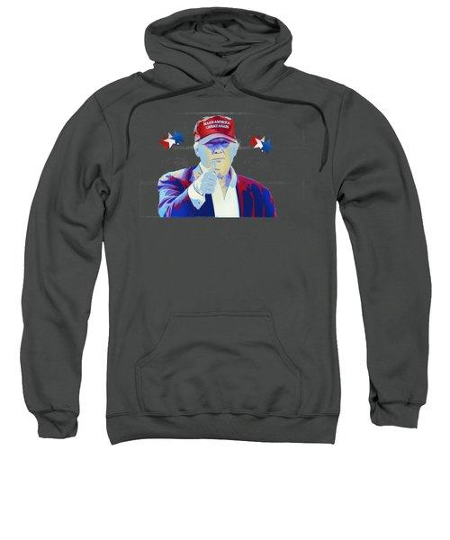 T R U M P Donald Trump Sweatshirt by Mr Freedom