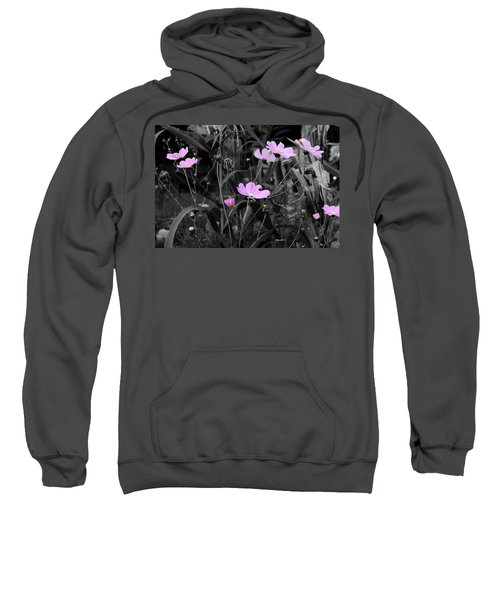 Tall Pink Poppies Sweatshirt