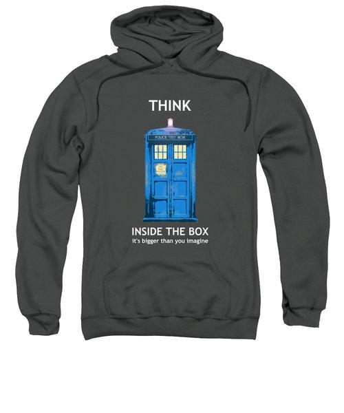 Tardis - Think Inside The Box Sweatshirt