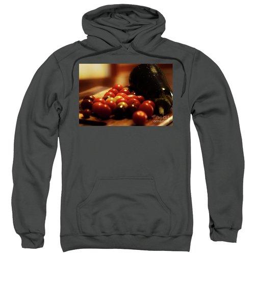 Tasty Cherry Tomatoes And Aubergine  Sweatshirt
