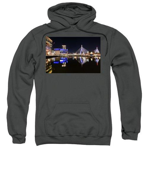 Td Garden And The Zakim Bridge At Night Sweatshirt