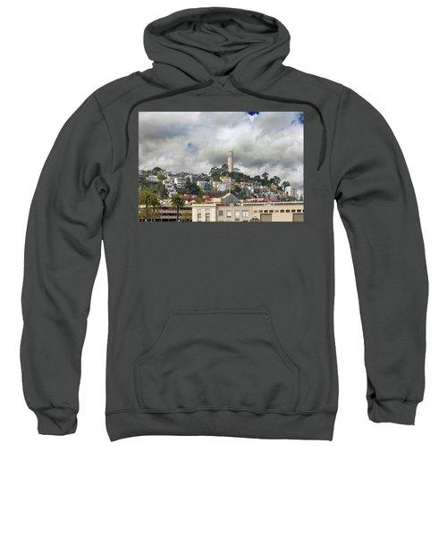 Telegraph Hill Neighborhood Homes In San Francisco Sweatshirt