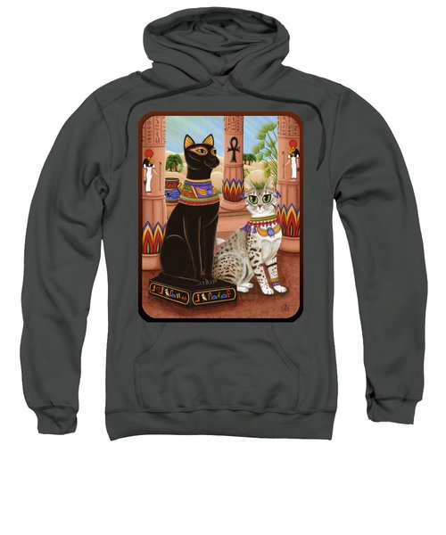 Temple Of Bastet - Bast Goddess Cat Sweatshirt