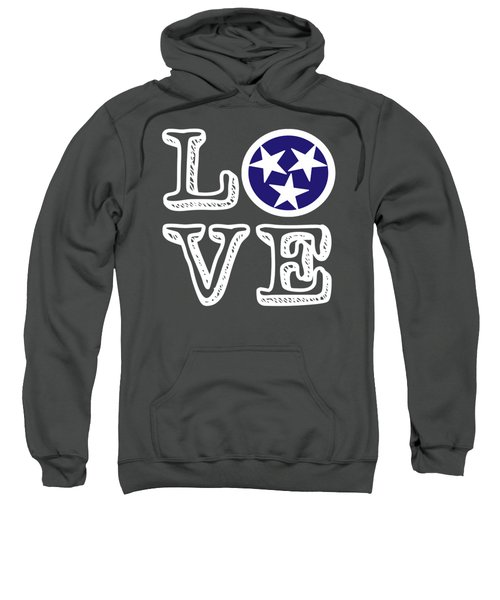 Tennessee Flag Love Sweatshirt