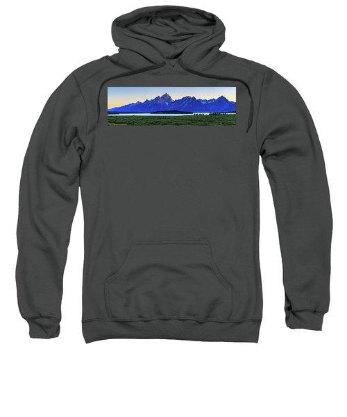 Sweatshirt featuring the photograph Teton Sunset by David Chandler