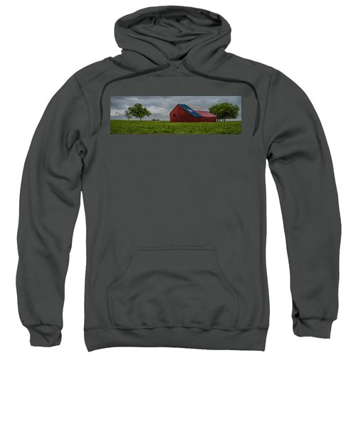 Texas Barn Panorama Sweatshirt