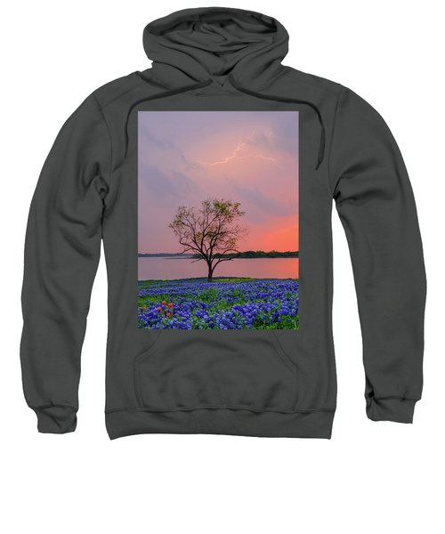 Texas Bluebonnets And Lightning Sweatshirt