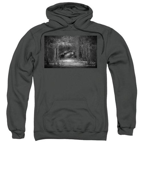 That Old Barn-bw Sweatshirt