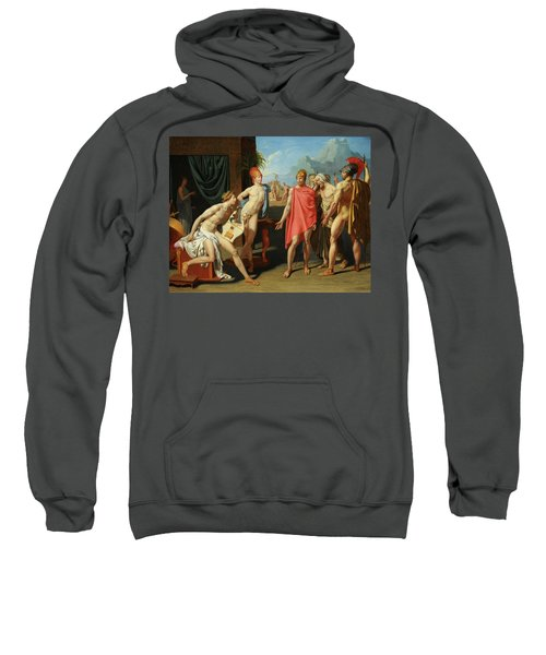 The Ambassadors Of Agamemnon In The Tent Of Achilles Sweatshirt