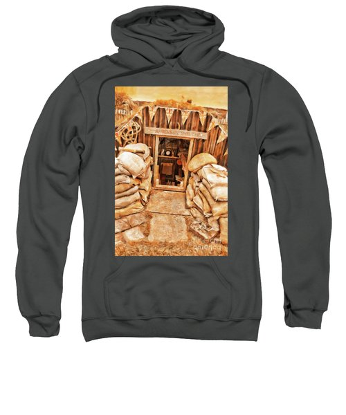 The Anderson Shelter By Sarah Kirk Sweatshirt