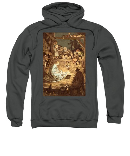 The Babe Lying In A Manger  Sweatshirt