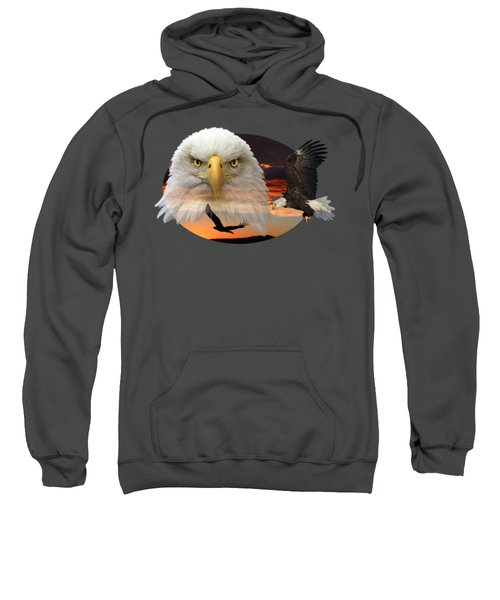 The Bald Eagle 2 Sweatshirt by Shane Bechler