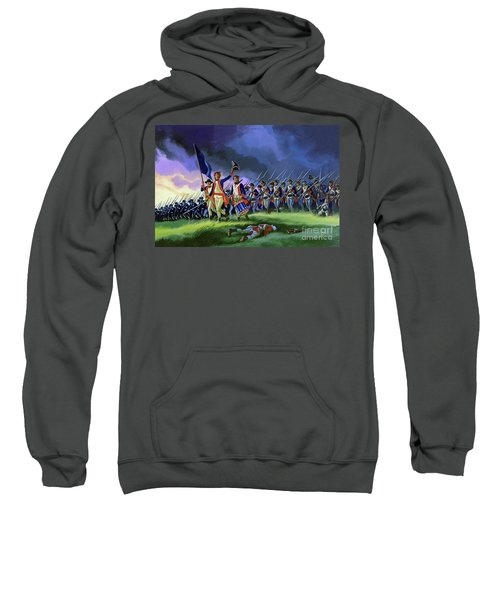 The Battle Of Saratoga, Showing A General Attack Led By Brigadier Arnold Sweatshirt