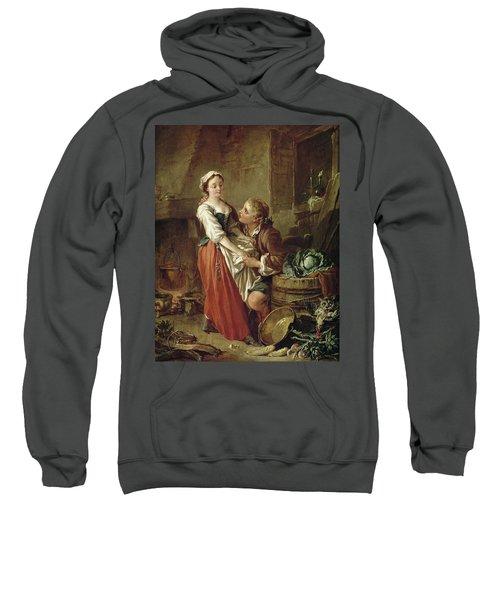 The Beautiful Kitchen Maid Sweatshirt by Francois Boucher