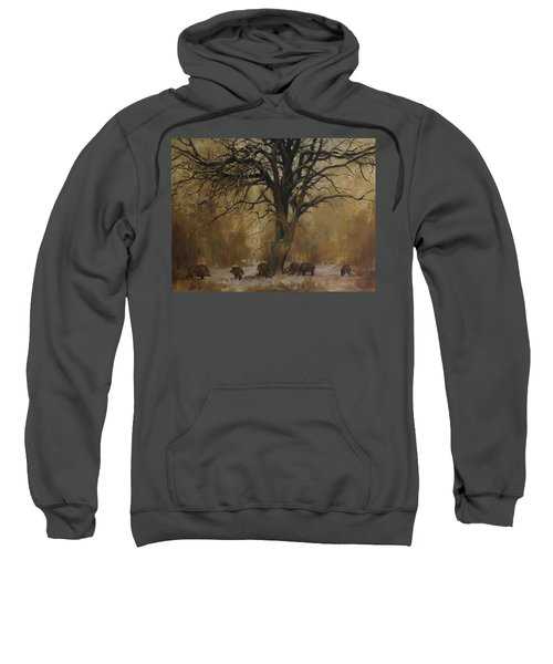 The Big Tree With Wild Boars Sweatshirt