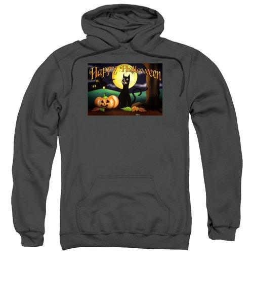 The Black Cat Greeting Card Sweatshirt