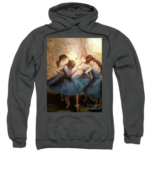 The Blue Ballerinas - A Edgar Degas Artwork Adaptation Sweatshirt
