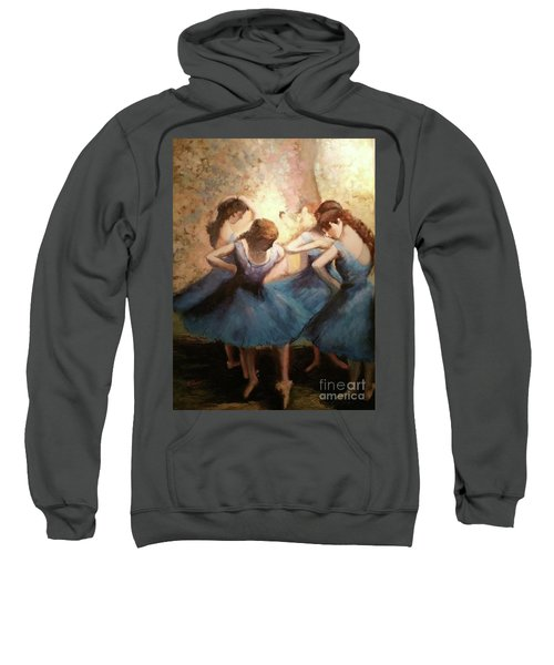 The Blue Ballerinas - A Edgar Degas Artwork Adaptation Sweatshirt