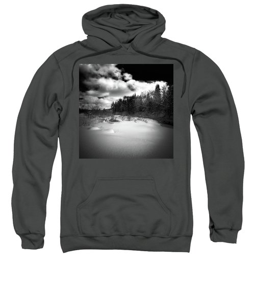 Sweatshirt featuring the photograph The Calm Of Winter by David Patterson