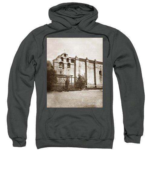 The Campanario, Or Bell Tower Of San Gabriel Mission Circa 1880 Sweatshirt
