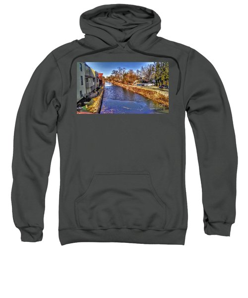 The Canal At New Hope In Winter Sweatshirt