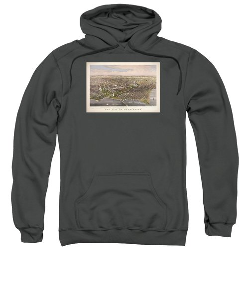 The City Of Washington Sweatshirt by Charles Richard Parsons