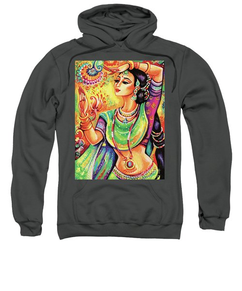 Sweatshirt featuring the painting The Dance Of Tara by Eva Campbell
