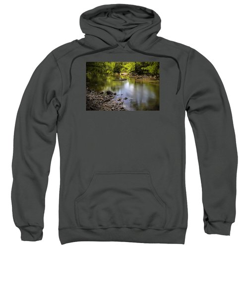 Sweatshirt featuring the photograph The Devon River by Jeremy Lavender Photography