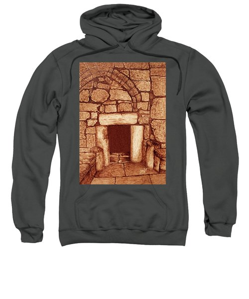 Sweatshirt featuring the painting The Door Of Humility At The Church Of The Nativity Bethlehem by Georgeta Blanaru