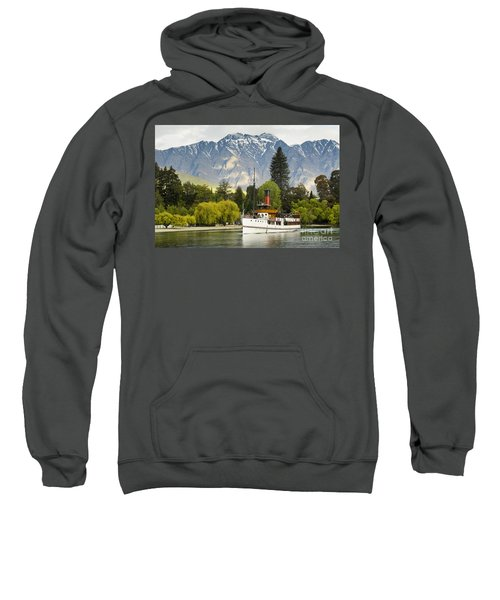 Sweatshirt featuring the photograph The Earnslaw by Werner Padarin