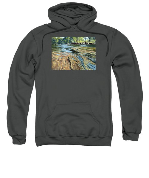 Sweatshirt featuring the painting The East Dart River Dartmoor by Lawrence Dyer